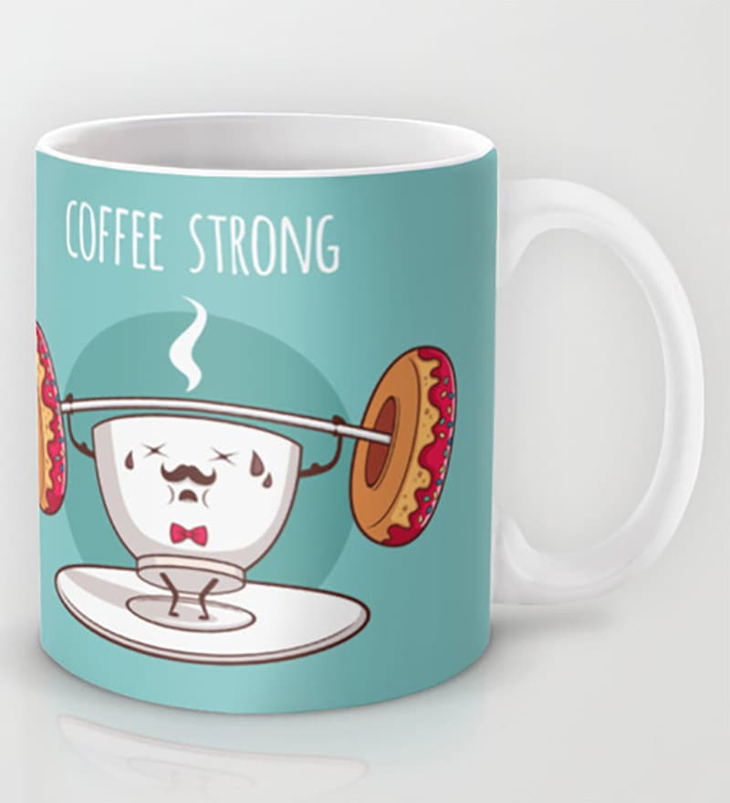 Astrode Coffee Strong Ceramic 325 ML Mugs