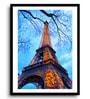 MDF & Paper 16 x 2.5 x 22 Inch An Evening by The Eiffel Framed Digital Art Print by Asian Artisans
