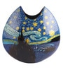 Asian Artisans Multicolour Wooden Medium Round Picasso Vase
