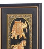 Asian Artisans Wood & Cloth 8 x 14 Inch Golden Camel, Elephant & Horse Vertical Framed Painting