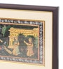 Asian Artisans Wood & Cloth 9.25 x 17 Inch Radha Krishna Framed Painting