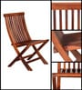 Fife Folding Chair in Provincial Teak Finish by Woodsworth