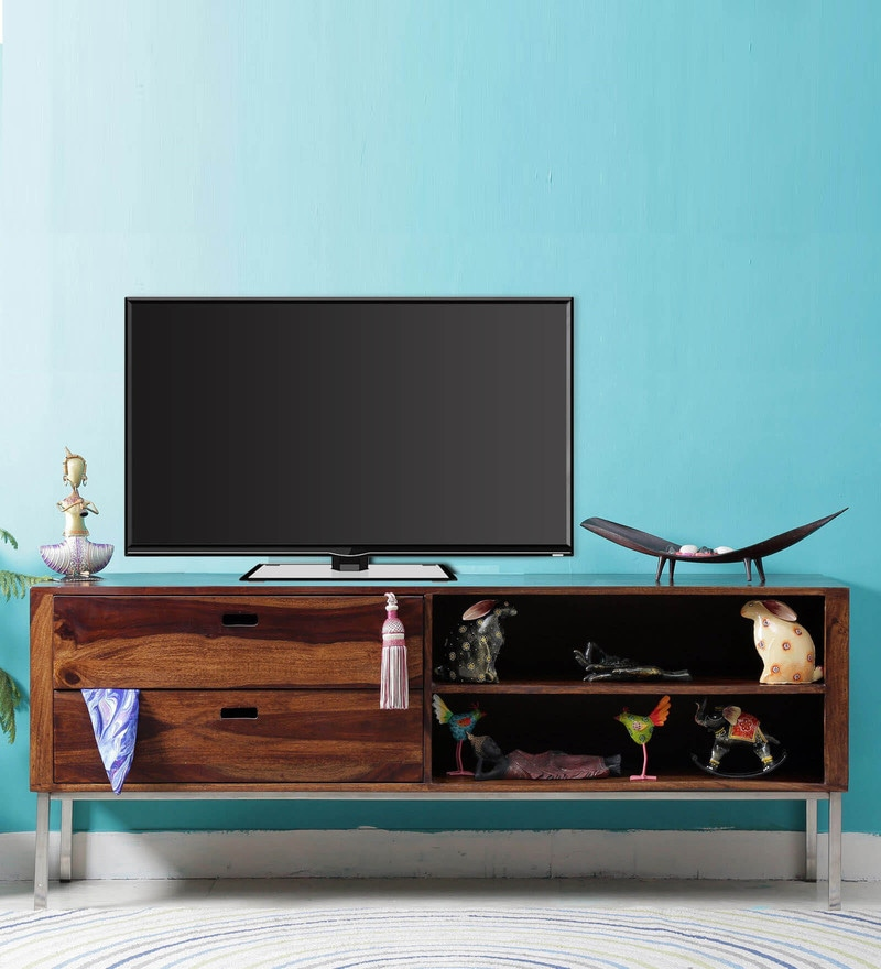 Atlanta Entertainment Unit in Provincial Teak Finish by Woodsworth