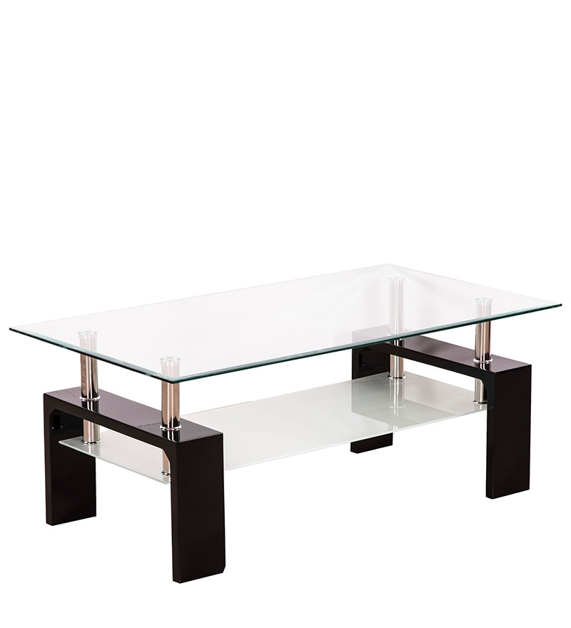 Buy Atlas Coffee Table With Glass Top Amp Shelf By Royal Oak