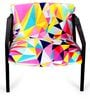 Attitude Chair with Multicoloured Upholstery by Bent Chair