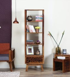 Aura Book Shelf In Provincial Teak Finish