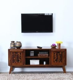 Aura Entertainment Unit In Provincial Teak Finish