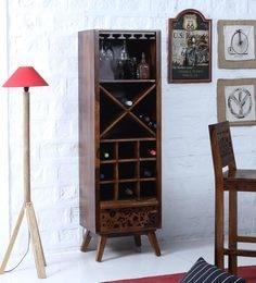 Aura Wine Rack In Provincial Teak Finish