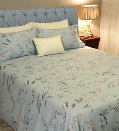 Avery 210 TC 100% Cotton Queen Size Bedsheet With 2 Pillow Covers ...
