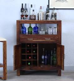 Avian Bar Cabinet In Provincial Teak Finish