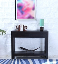 Avian Solid Wood Console Table In Warm Chestnut Finish