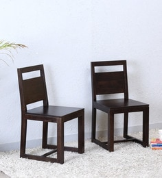 Avian Dining Chair (Set Of Two) In Warm Chestnut Finish