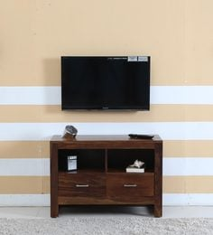 Avian Entertainment Unit In Provincial Teak Finish - 1596956