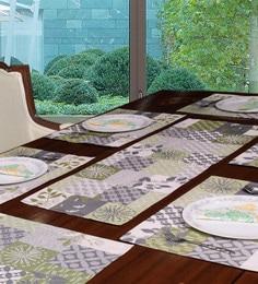 Avira Home Multichecks Green Table Mats & Runner, Set Of 7
