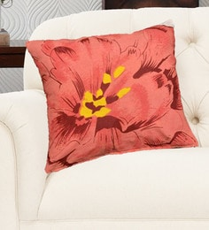Avira Home Multicolour Cotton 18 X 18 Inch Rose Printed Cushion Cover - Set Of 2