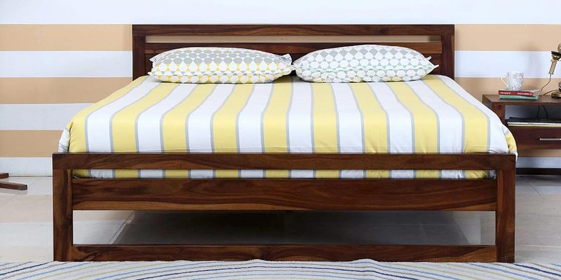 Avian Solidwood Queen Bed in Provincial Teak Finish by Woodsworth