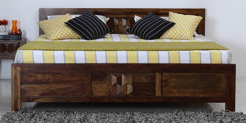 Avilys King Bed in Provincial Teak Finish by Woodsworth
