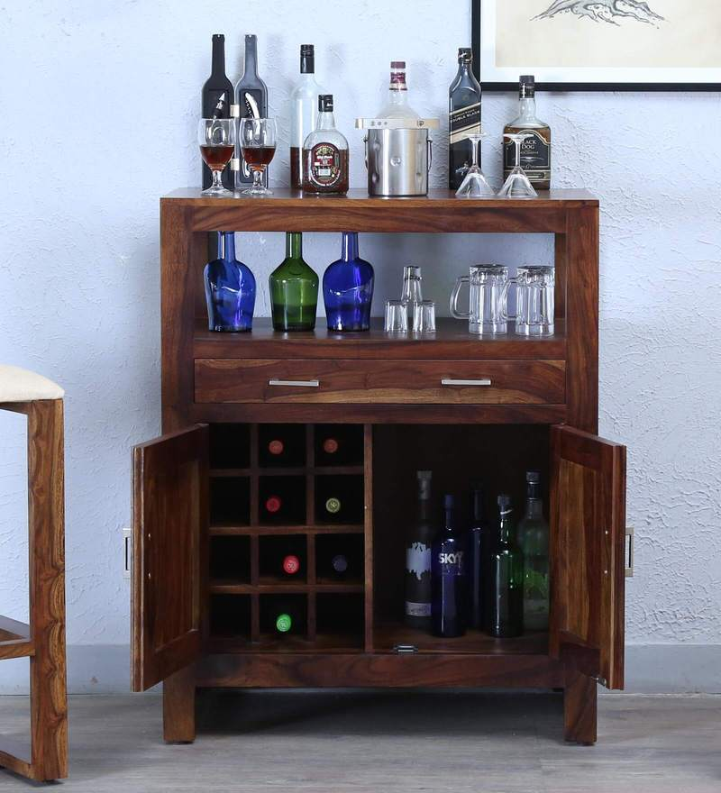 Avian Bar Cabinet in Provincial Teak Finish by Woodsworth