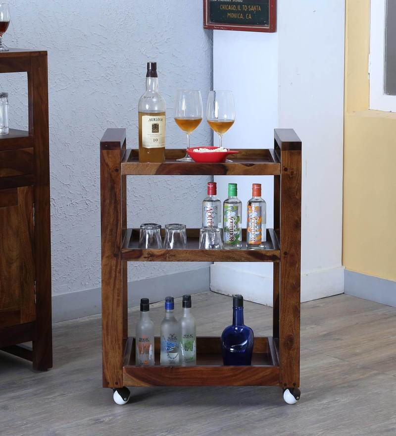Avian Bar Trolley in Provincial Teak Finish by Woodsworth