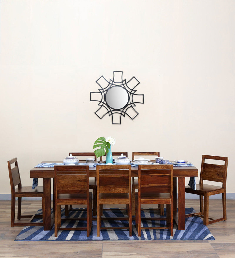 Avian Eight Seater Dining Set in Provincial Teak Finish by Woodsworth