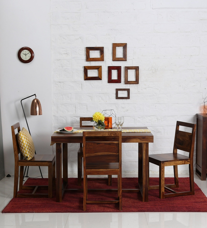 Avian Four Seater Dining Set in Provincial Teak Finish by Woodsworth