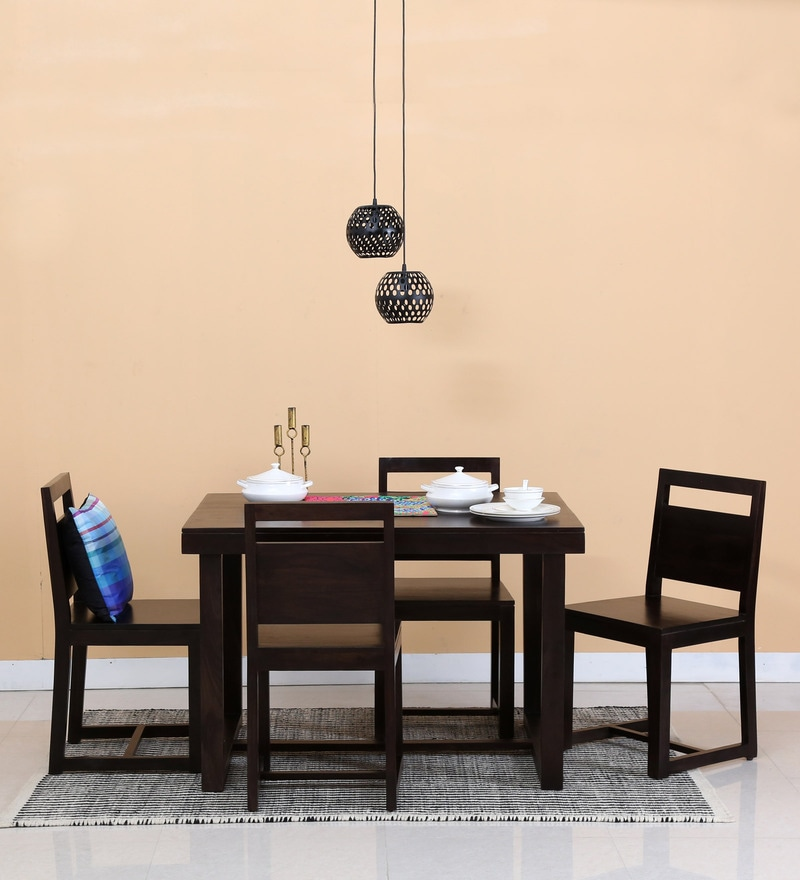 Avian Four Seater Dining Set in Warm Chestnut Finish by Woodsworth