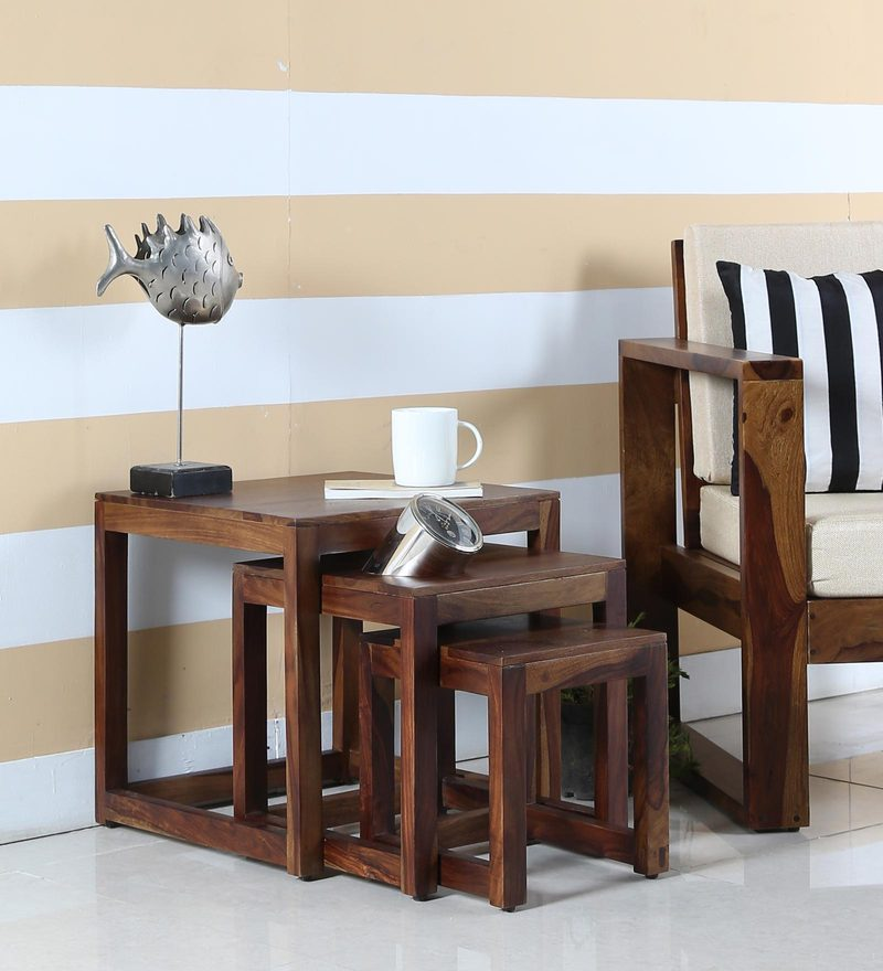 Avian Set Of Tables in Provincial Teak Finish by Woodsworth