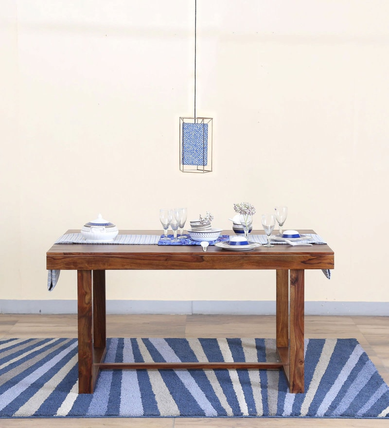 Avian Six Seater Dining Table in Provincial Teak Finish by Woodsworth