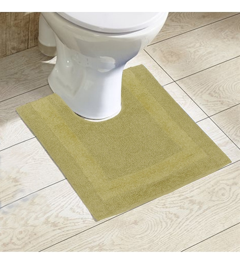 Avira Home Green 100% Cotton 20 x 20 Bath Mat