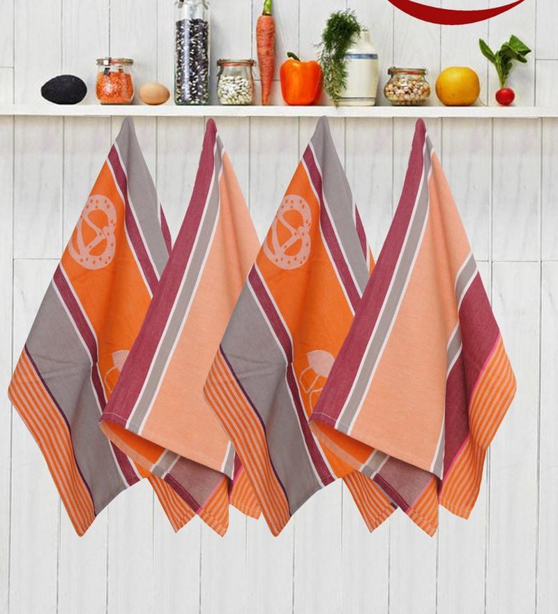 Avira Home Royal Classic Multicolour Cotton Kitchen Towel - Set of 4