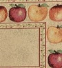 Avira Home Fruit Border Multicolour Cotton & Polyester Placemats - Set of 6