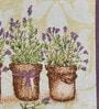 Avira Home Lavender Flower Pots Multicolour Cotton & Polyester Placemats - Set of 6