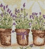 Avira Home Lavender Flower Pots Multicolour Cotton And Polyester Table Mat - Set Of 2