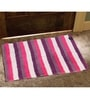 Avira Home Multicolour 100% Cotton Bath and Toilet Mat  - Set of 2