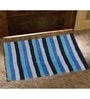 Multicolour 100% Cotton Bath and Toilet Mat - Set of 2 by Avira Home