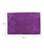Purple 100% Cotton 20 x 30 Inch Elegance Door Mat by Avira Home
