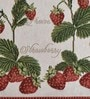 Avira Home Strawberry Red & White Cotton & Polyester Placemats - Set of 2