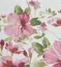 Avira Home Summer Flowers Pink Cotton And Polyester Table Mat - Set Of 2