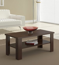Ayaka Coffee Table In Satin Tobacco Finish ...