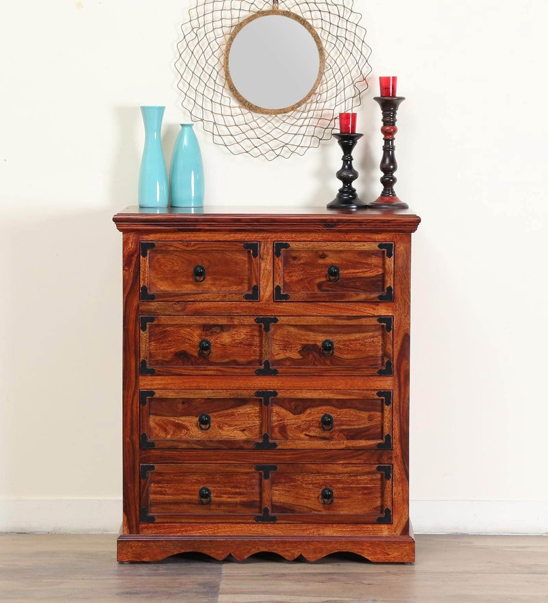 Ayasa Chest of Drawer in Honey oak Finish by Mudramark
