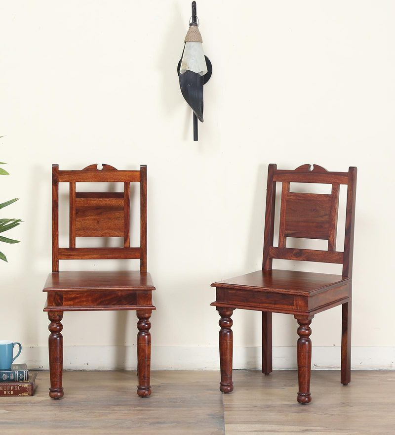 Ayasa Dining Chair (Set of 2) in Honey oak Finish by Mudramark