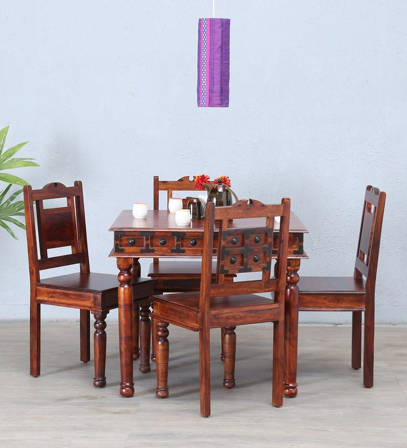 Ayasa Four seater Dining set in Honey oak Finish by Mudramark