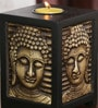 Ethnic Clock Makers Wenge Solid Wood Buddha Tea Light Holder