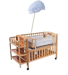 Baby Cot In Natural Colour