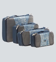 Bags R Us Polyester Blue Packing Cubes - Set Of 4,7.7 Litres - 1680658