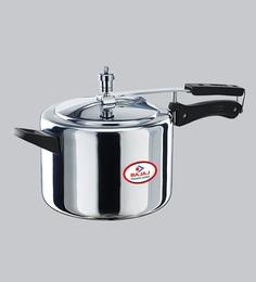 Bajaj Majesty Duo Aluminium Pressure Cooker With Innder Lid,5000 ML
