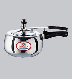 Bajaj Pcx 65D Aluminium Pressure Cooker With Innder Lid,5000 ML