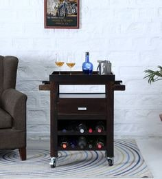 Oriel Bar Trolley In Warm Chestnut Finish