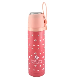 Bar World Pink Stainless Steel & Plastic 500 ML Vacuum Flask