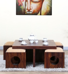 Barnes  Coffee Table Set In Provincial Teak Finish